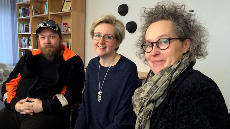 Ronnie Antman, Susanne Karlsson och Ulrika Westin. Foto: Tünde Simo/Sveriges Radio.