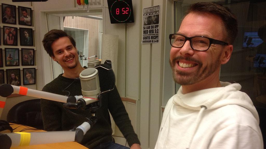 Niklas Wikström och Ulf Rehnholm. Foto: Jonas Carnesten/Sveriges Radio.