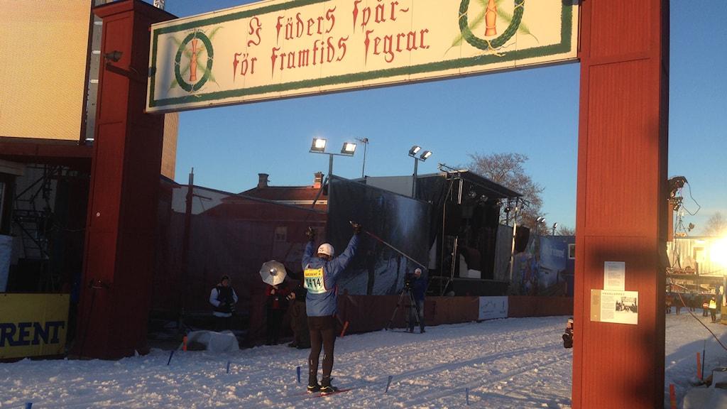 Målgång. Foto: Jenny Roxberger/Sveriges Radio.