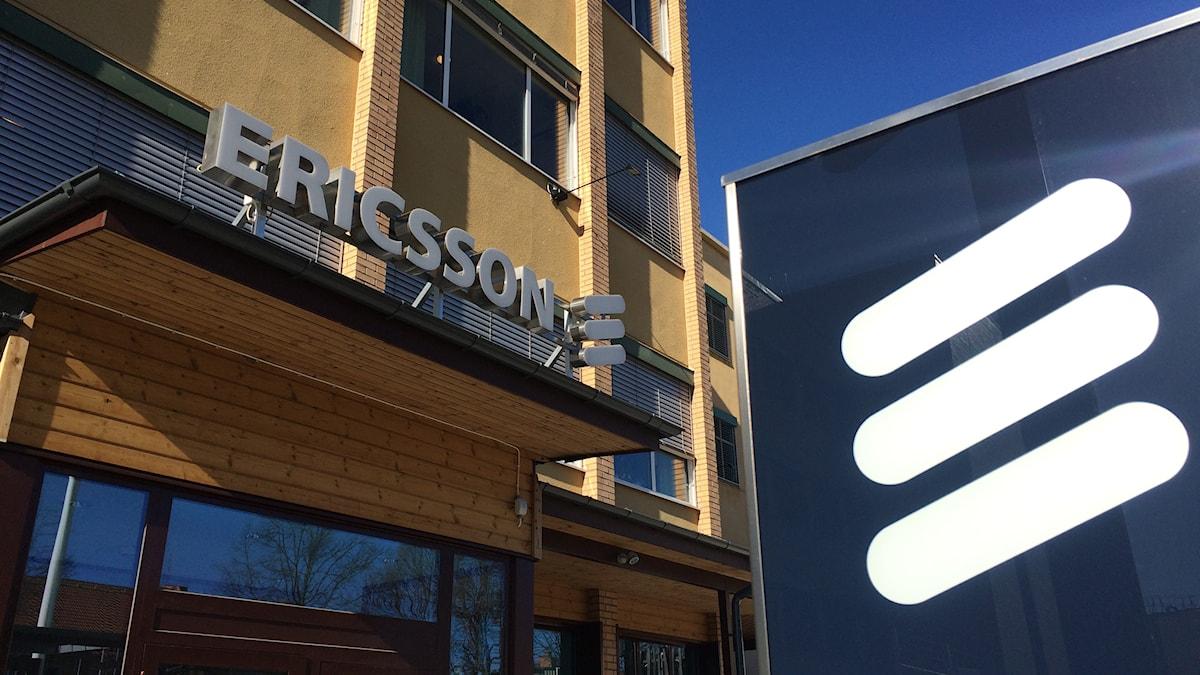 Ericssons fabrik i Katrineholm. Foto: Fredrik Blomberg/Sveriges Radio.