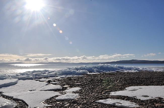 Vårsolen smälter isen. Foto: Maj-Lis Danielsson