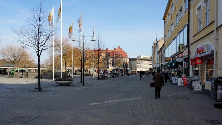 Katrineholms centrum. Foto: Katarina Larsson/Sveriges Radio.