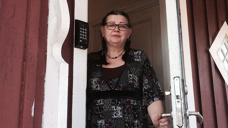 Christel Flinckenberg från föreningen EUM i Röda Villan. Foto: Katarina Wahlström/Sveriges Radio.
