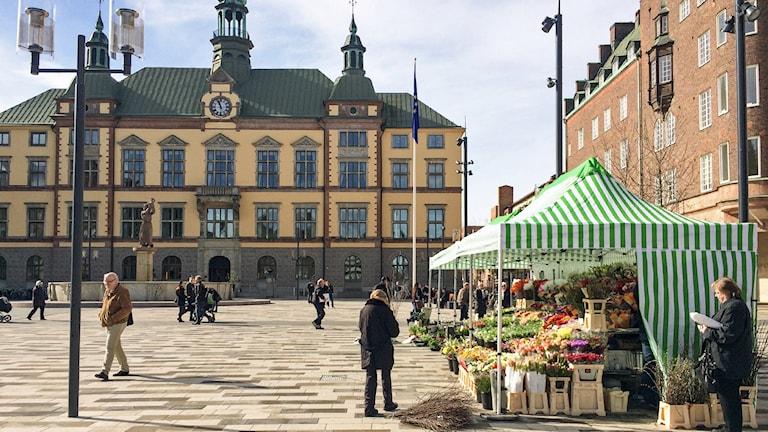 Fristadstorget i Eskilstuna. Foto: Pia Lindhe Rudolf/Sveriges Radio.