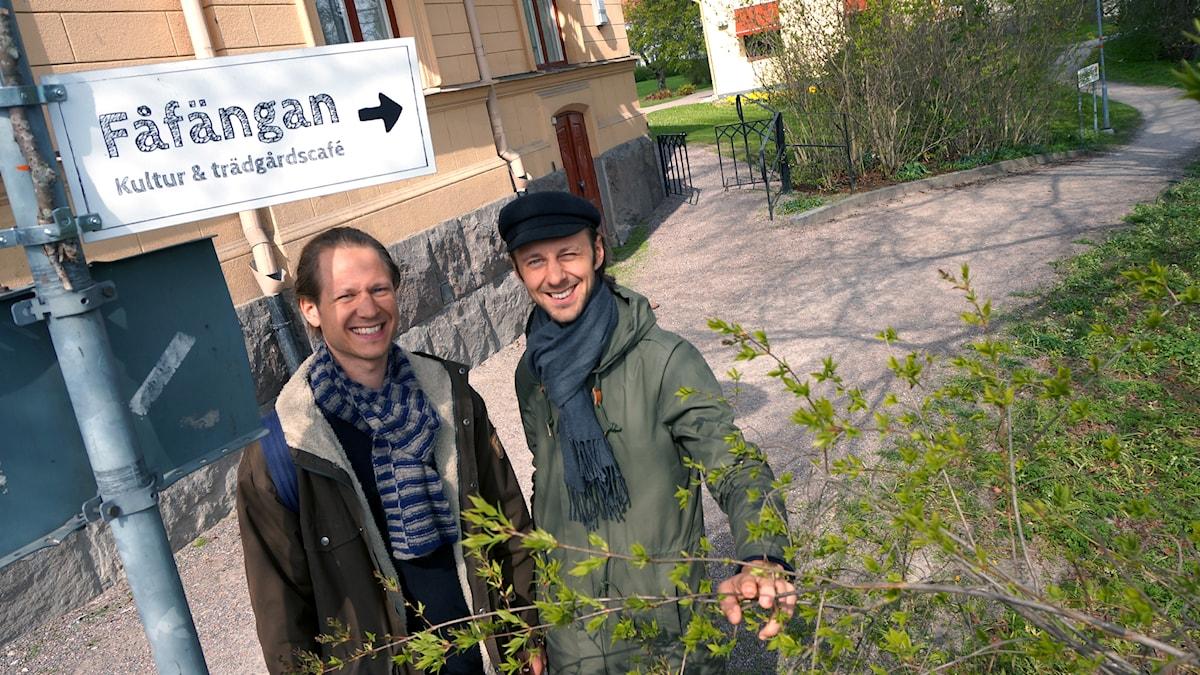 Isak Blomster och Love Blomster. Foto: Katarina Larsson/Sveriges Radio.