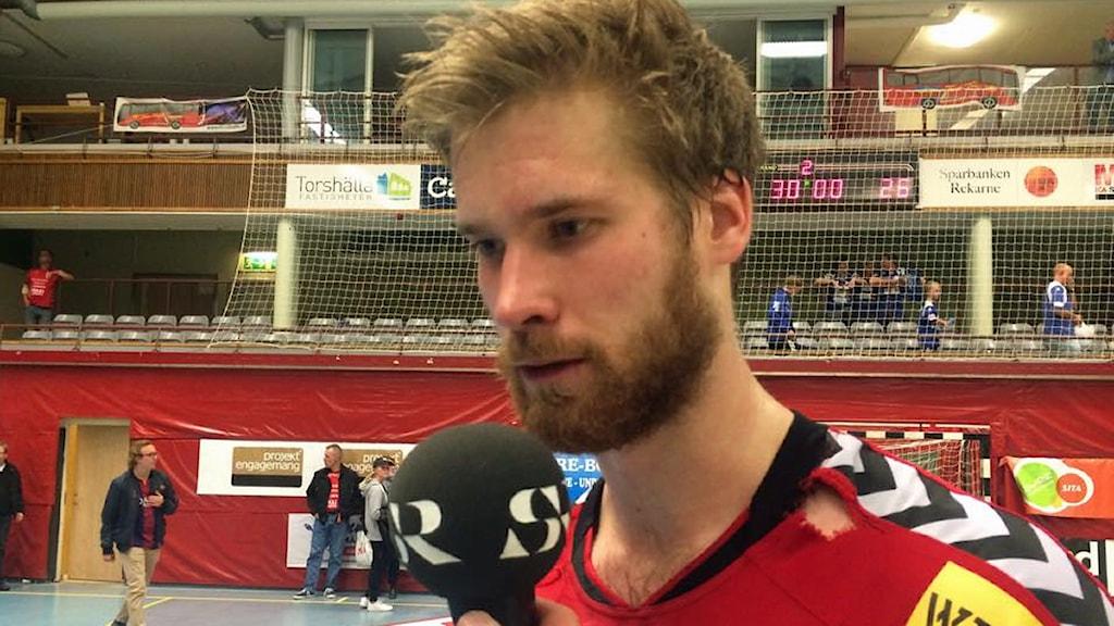 Viktor Östlund i Guif. Foto: Fredrik Blomberg/Sveriges Radio.