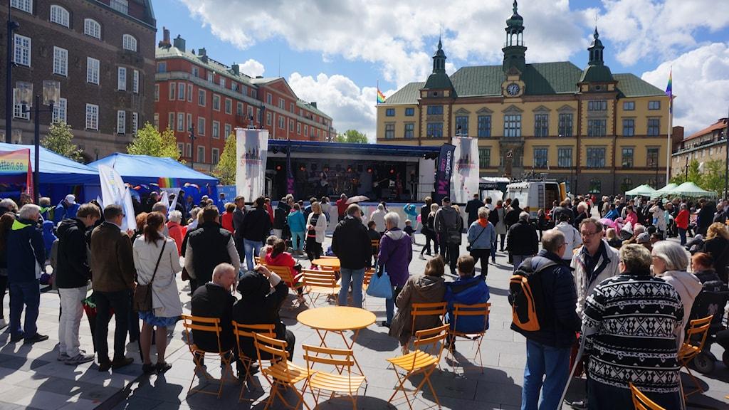 Fristadstorget vid Svensktoppen nästa-final