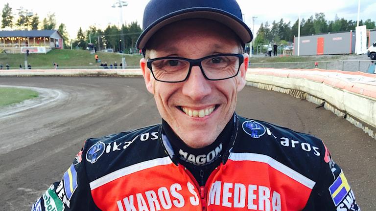 Peter Karlsson på speedwaybanan.