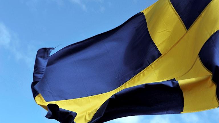 Svenska flaggan. Foto: Hasse Holmberg/TT.