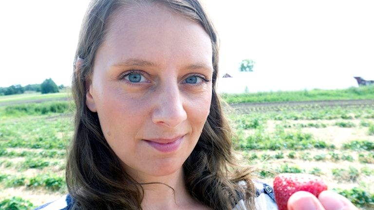 Malin Randeniye på Hillsta gård i Västerljung. Foto: Malin Rendeniye