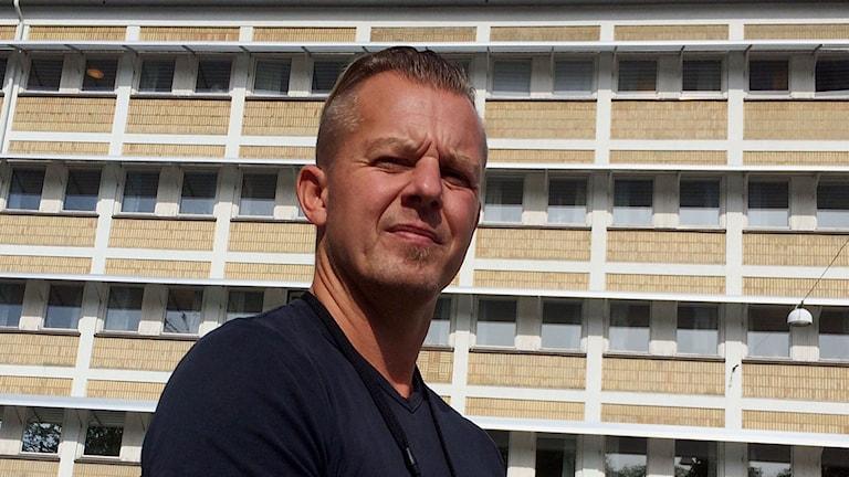 Erik Thulin, kommunikatör polisen region öst.Foto: Reino Helin/Sveriges Radio