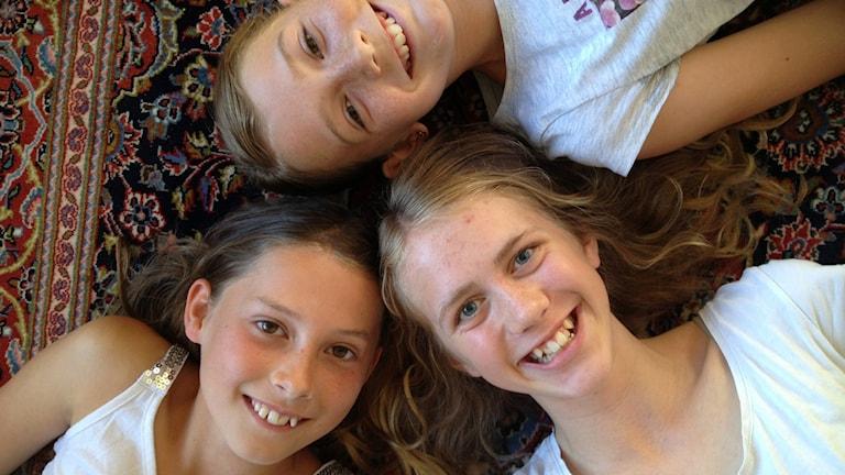 Fatima, Naomi och Carla. Foto: Kristin Insulander Ekberg.
