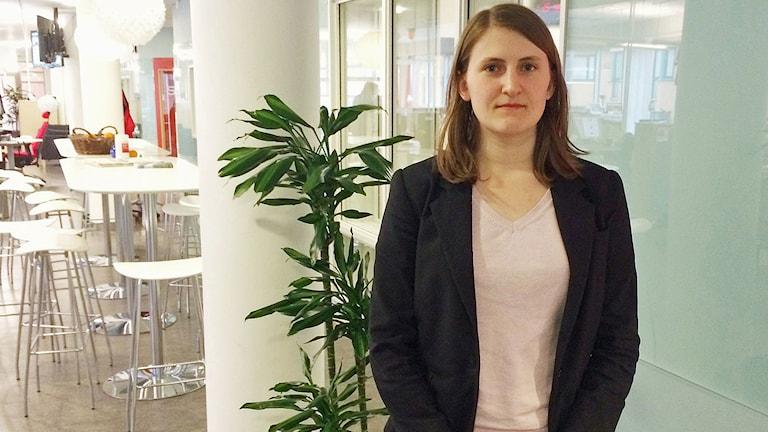 Jessica Ohlson, ordförande för SDU.  Foto: Tova Kurkiala Medbo/Sveriges Radio.