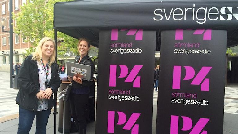 Evelina Crabb och Katarina Larsson. Foto: Mikael Strang/Sveriges Radio.