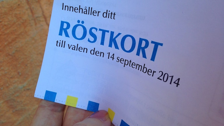 Röstkort. Foto: Katarina Larsson/Sveriges Radio.