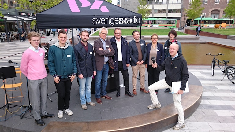 Politiker i Eskilstuna. Foto: Evelina Crabb/Sveriges Radio.