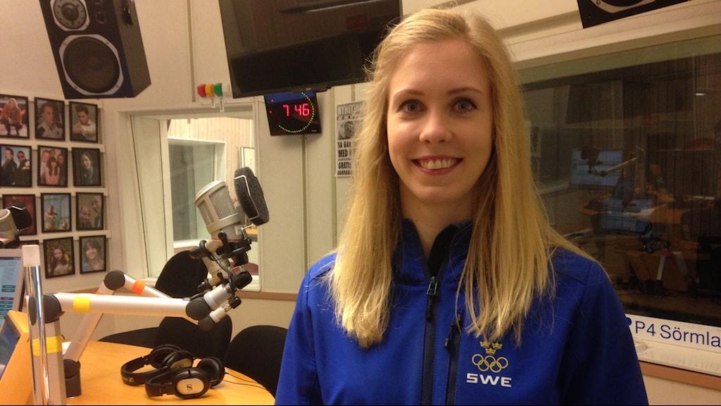 Carita Thoren, tygdlyftare från Eskilstuna. Foto: Jonas Carnesten/Sveriges Radio