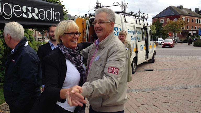 Dans under debatt i Katrineholm. Foto: Evelina Crabb/Sveriges Radio.