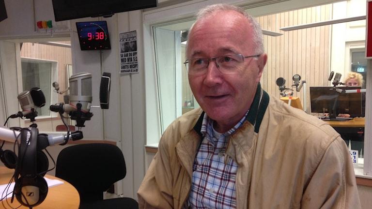 Patrick Breslin ordförande i Flens IF Södra. Foto Jonas Carnesten/Sveriges Radio