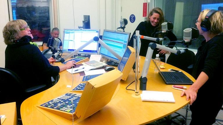 Susanne, Sanna och Titti. Foto: Mikael Strang/Sveriges Radio.
