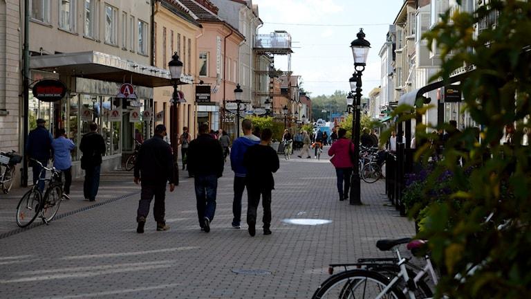 Västa Storgatan i Nyköping. Foto: Urban Hedqvist/Sveriges Radio.