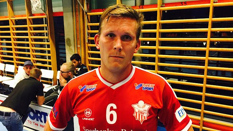 Pierre Hellström, Strängnäs IBK. Foto: Felix Andersson/Sveriges Radio.