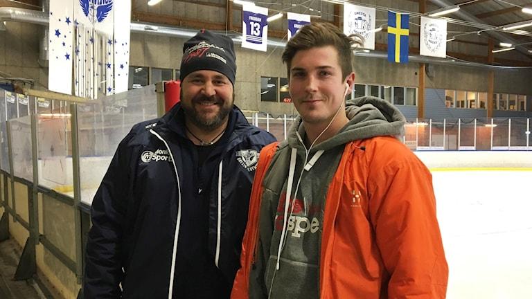 Jörgen Ahlbom och Kevin Stråhle Gnesta IK