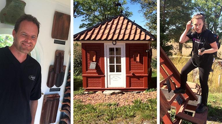 Erik Hedenstedt har taktegelmuseet i Trosa där reporter Katarina Larsson hälsar på.