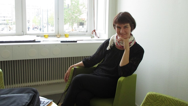 Vänsterpartiets Maria Chergui, kommunalråd i Eskilstuna. Foto: Carl Bergmansson.