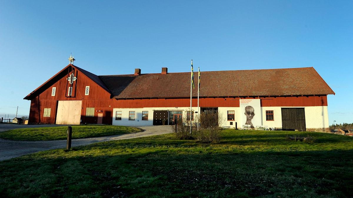 Grafikens hus i Mariefred som det såg ut innan branden i mars 2014. Foto: Janerik Henriksson /TT.