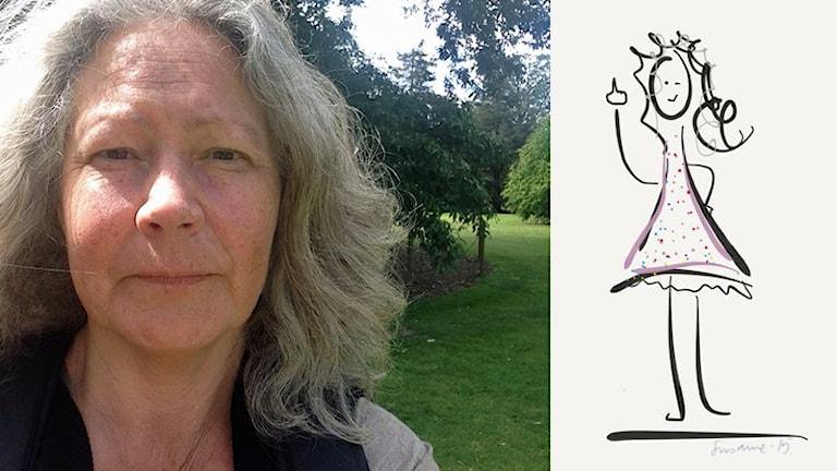 Susanne Ahlstrand och hennes bild till #sverigeritar. Foto: Privat.