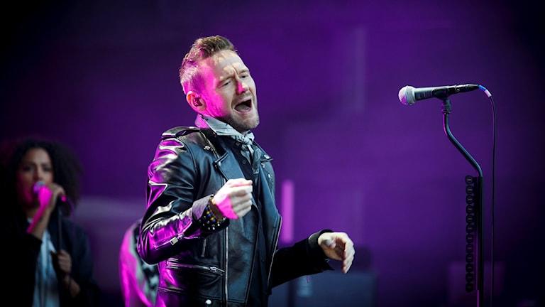 Jocke Berg i Kent sjunger. Foto: Heiko Junge/TT.