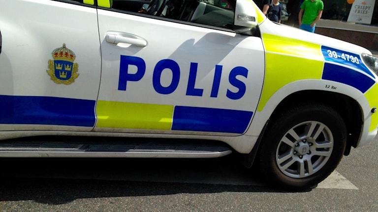 Polisbil. Foto: Katarina Larsson/Sveriges Radio.