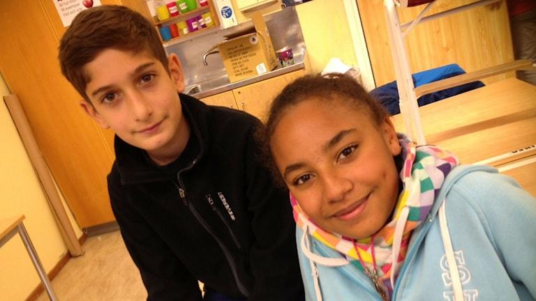 11-åringarna Pamela och Malek från Eskilstuna