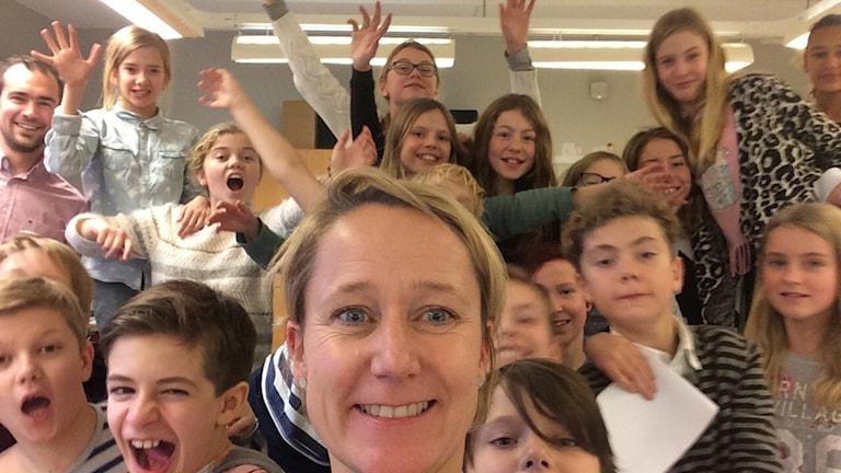 Gripsholmsskolan klass 5B Tigrar. Foto:Titti Hildebrand/Sveriges Radio