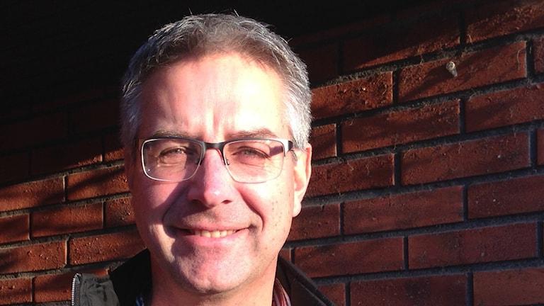 Mats Hallberg golfkommentator. Foto Leif Johansson P4 Sörmland