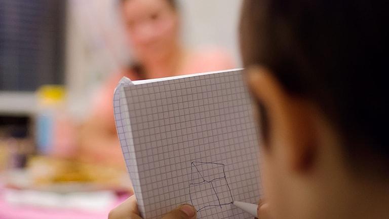Barnen är stressade av situationen. Foto: David Nilsson Hamne/Sveriges Radio.