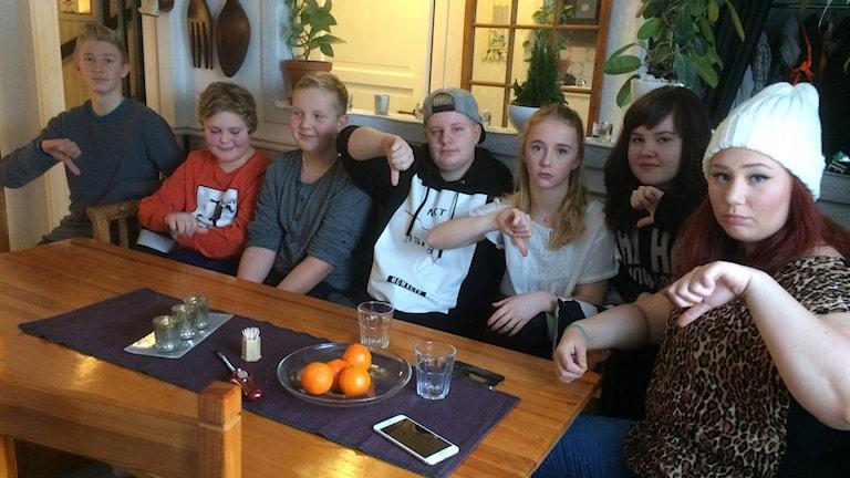 Ungdomar i Valla. Foto: Katarina Wahlström/Sveriges Radio.