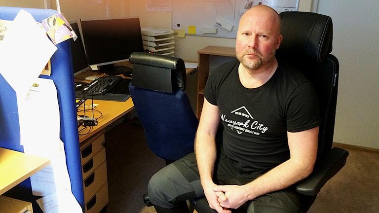 Fredrik Hedlund, förundersökningsledare. Foto: Reino Helin/Sveriges Radio.