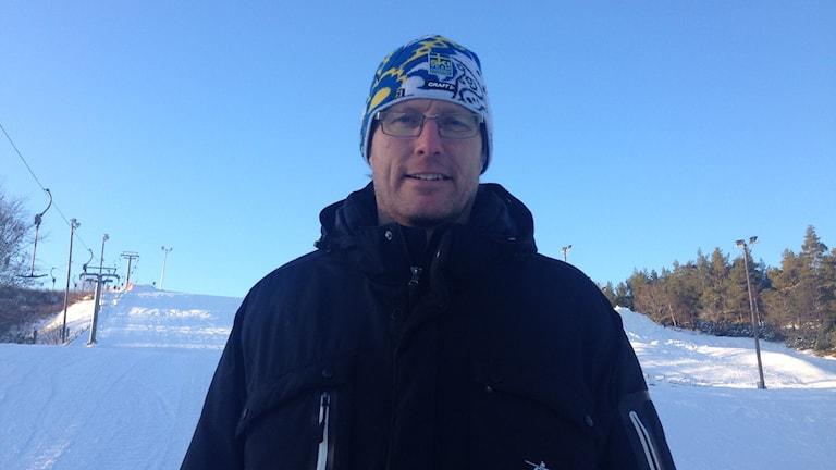 Peter Tholse fd. Volleybollspelare med 370 landskamper på meritlistan. Foto Leif Johansson P4 Sörmland