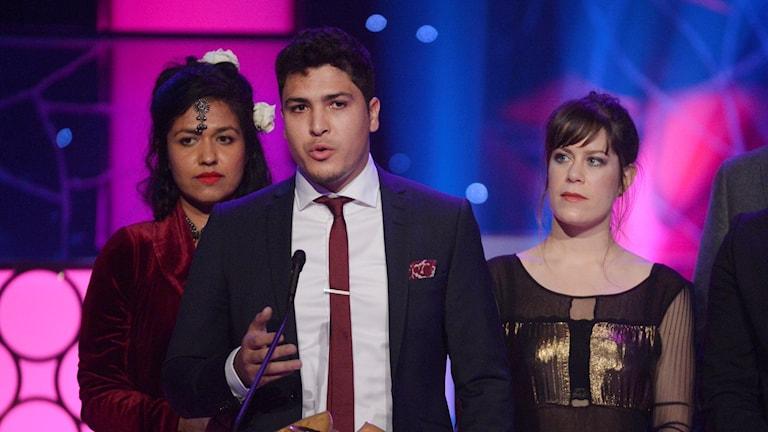 Shaon Chakraborty, Sami Hsini och Anna Persson. Foto: Jessica Gow/TT.