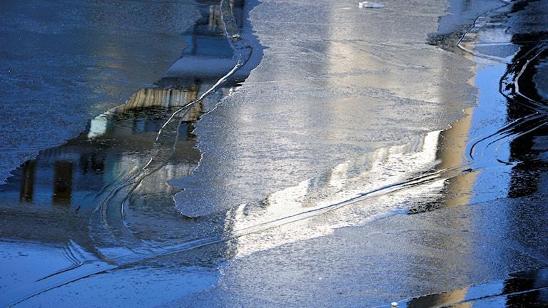 Is med vatten på. Foto: Hasse Holmberg/TT.