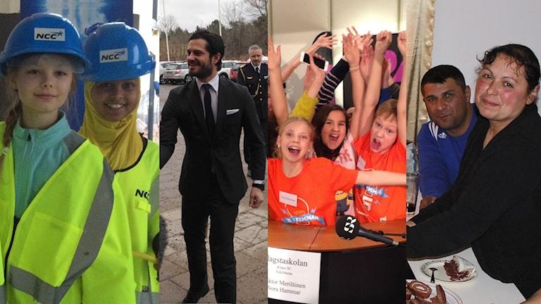 Kollage av bilder från veckan som gått. Foto: Josefin Lundin/Hugo Wennström/Johanna Iggsten