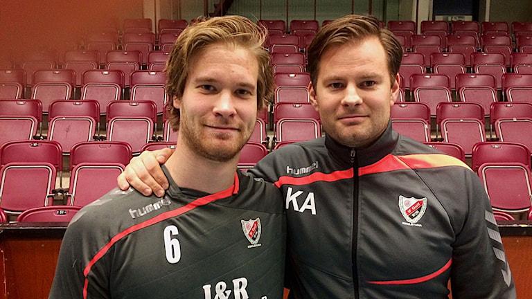 Viktor Östlund och Kristjan Andresson, Guif. Foto: Reino Hlein/Sveriges Radio.
