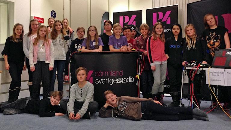 Vitalisskolan 5B. Foto: Alexandra Sannemalm/Sveriges Radio.