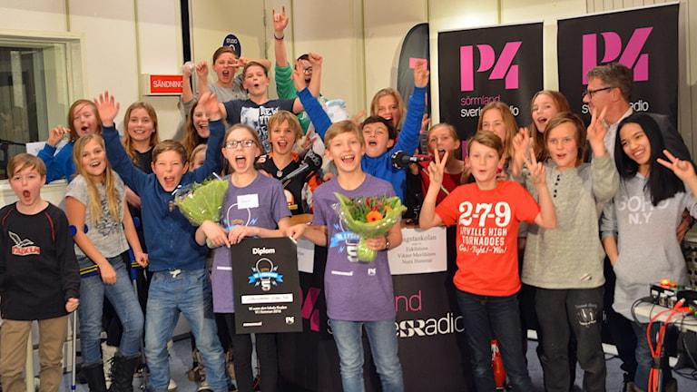 Vitalisskolan klass 5b vinnare i Vi i femman 2016