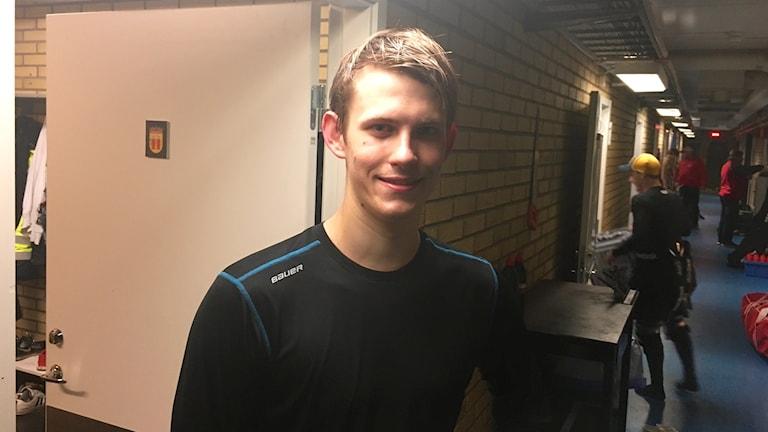 Jesper Boklund efter debuten mot Vallentuna.