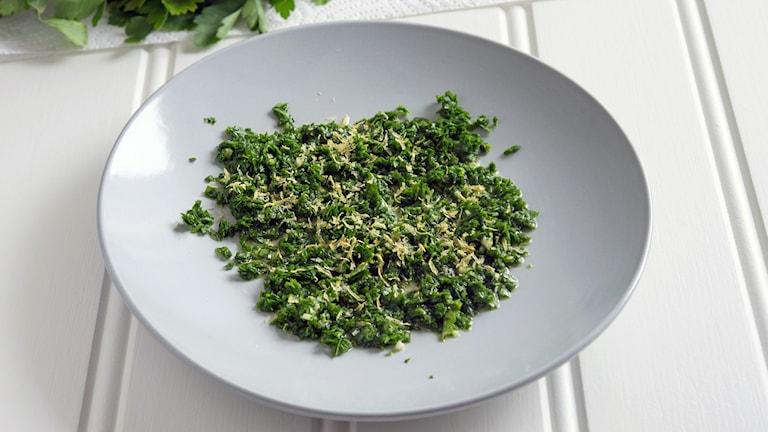 Mat med Malins recept: Gremolata.