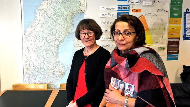 Eva Eriksson och Sherifeh Ghasmemnejael