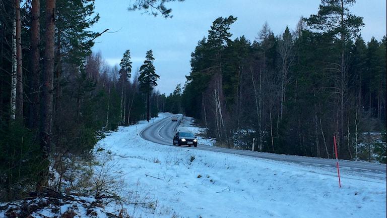 Gryning på väg 53 mellan Råby och Husby utanför Nyköping, en olycksdrabbad väg, enligt polisen.